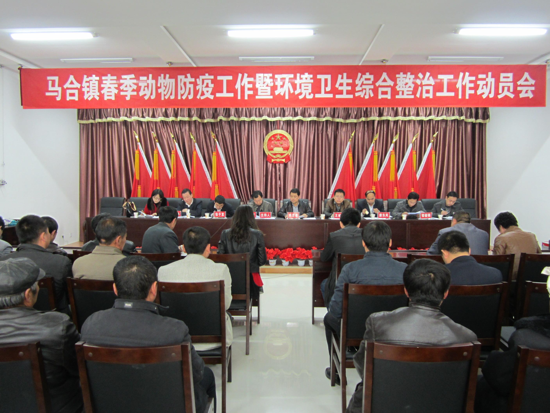 马合镇召开春季动物防疫暨环境卫生综合整治工作动员